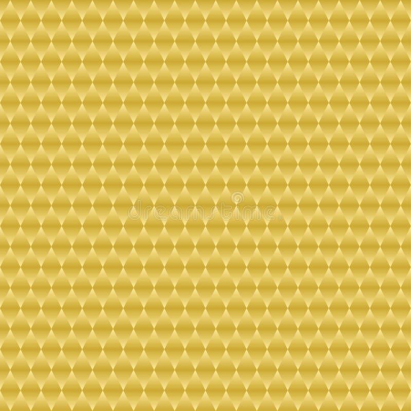 Célula gometric del oro del fondo fresco stock de ilustración