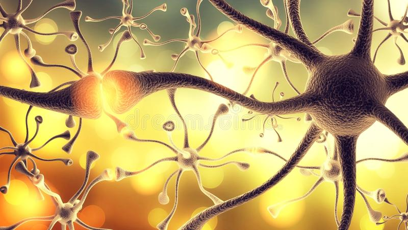 Célula nerviosa fotos de archivo