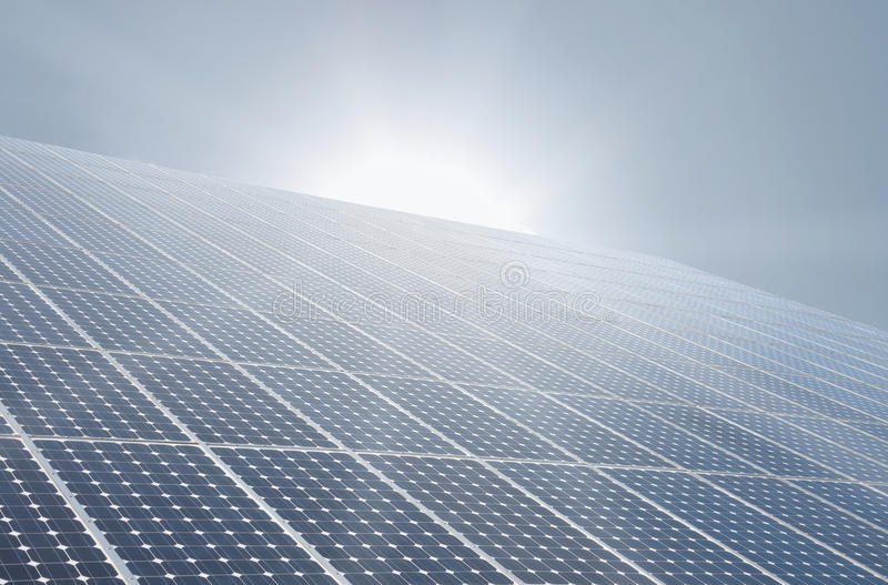 Célula solar fotografia de stock