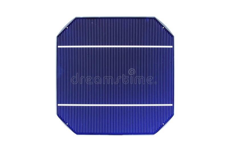 Célula solar crua fotografia de stock