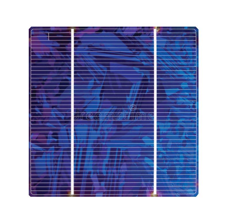 Célula solar do silicone foto de stock