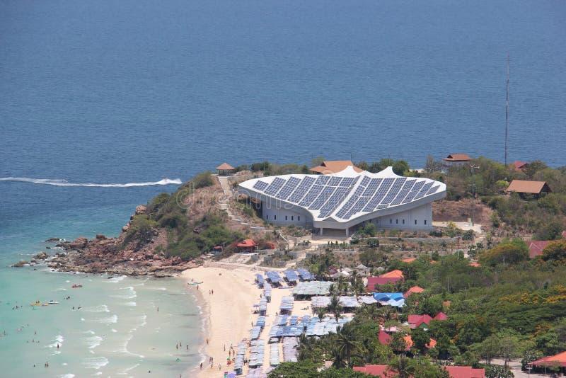Célula solar en la isla de Larn, Pattaya, Tailandia imagen de archivo libre de regalías
