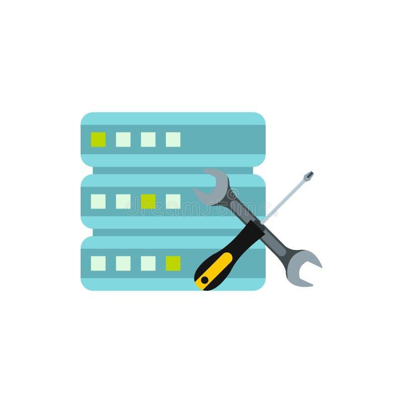 Células de configuración para el icono del almacenamiento de datos libre illustration