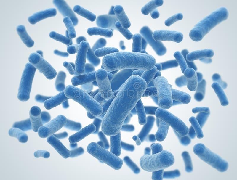 Células de las bacterias stock de ilustración