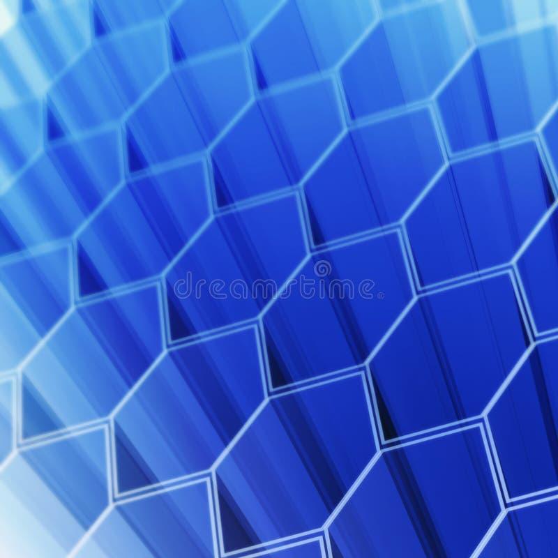 Células del hexágono de la tecnología libre illustration
