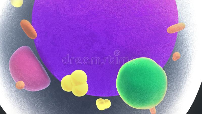 Células gordas o Adipocytes stock de ilustración