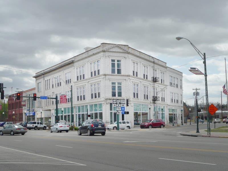 Céntrico, edificio histórico de Fort Smith, AR fotos de archivo