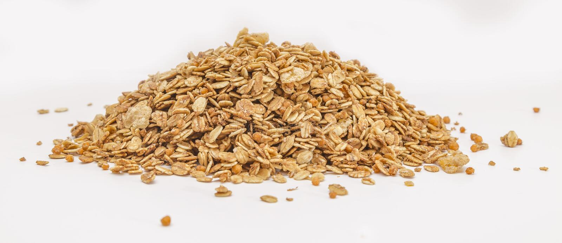 Céréale de granola d'isolement sur le backgroung blanc photos libres de droits