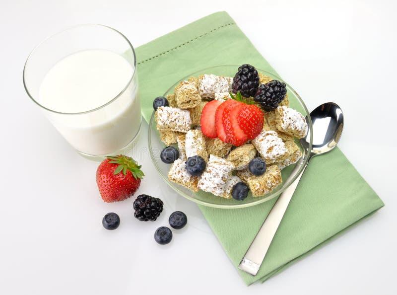Céréale et lait image stock