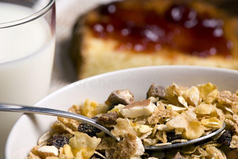 Céréale et pain grillé de petit déjeuner photos libres de droits