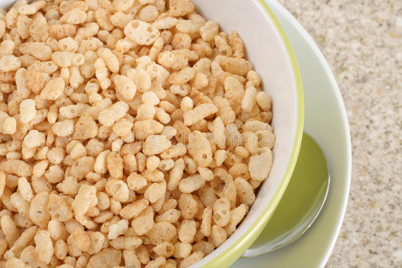 Céréale soufflée de riz images libres de droits