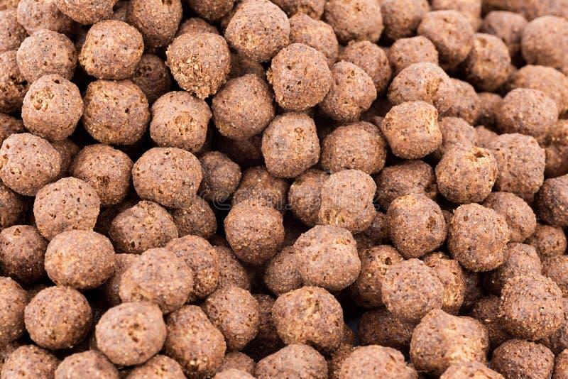 Céréales de chocolat image stock