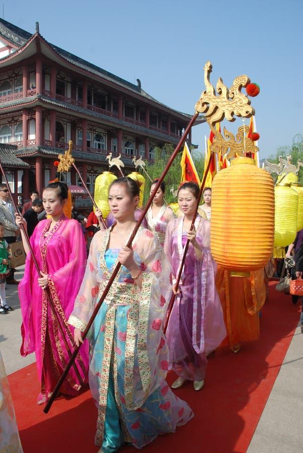 Cérémonie chinoise de mémorial public de festival de Qingming images stock