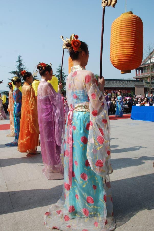 Cérémonie chinoise de mémorial public de festival de Qingming photos libres de droits