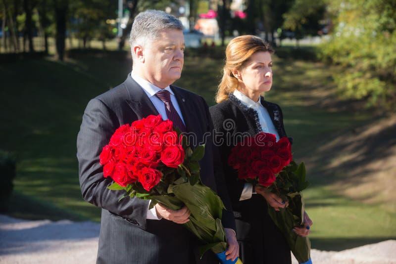Cérémonie d'honorer la mémoire des victimes de Babyn Yar, Ukraine images libres de droits