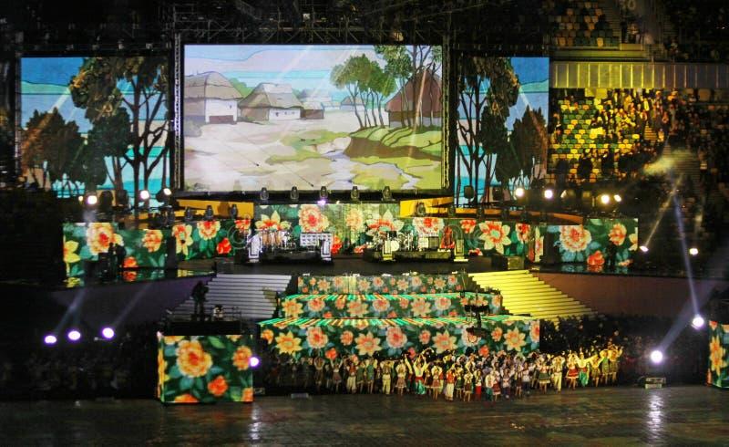 Cérémonie d'ouverture olympique de stade images stock