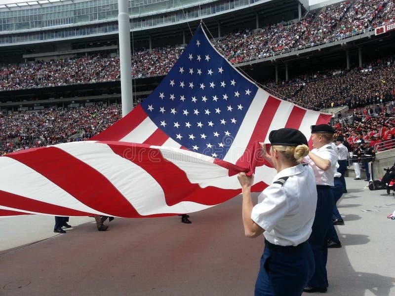 Cérémonie de augmenter de drapeau photos libres de droits