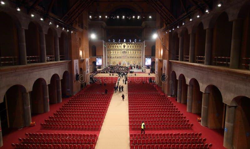 Cérémonie de consécration de cathédrale nationale de la Roumanie photos stock