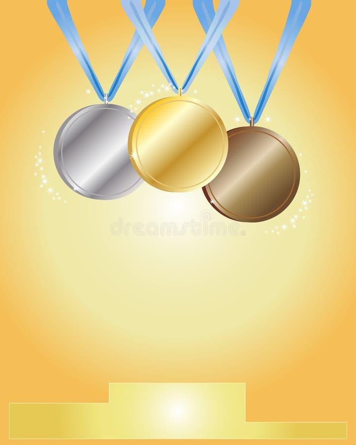 Cérémonie de médaille illustration de vecteur