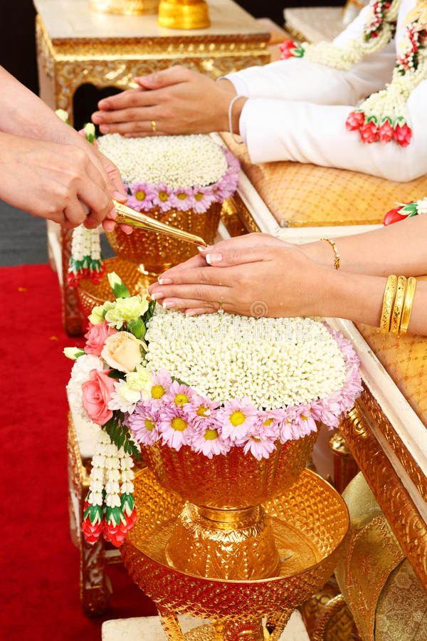 Cérémonie de mariage de Thail image stock