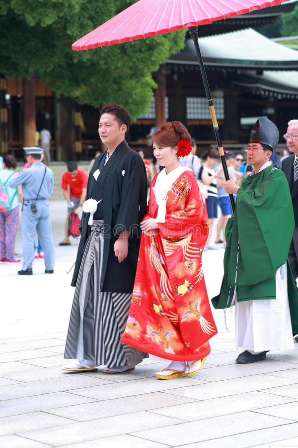 Cérémonie de mariage japonaise photos libres de droits