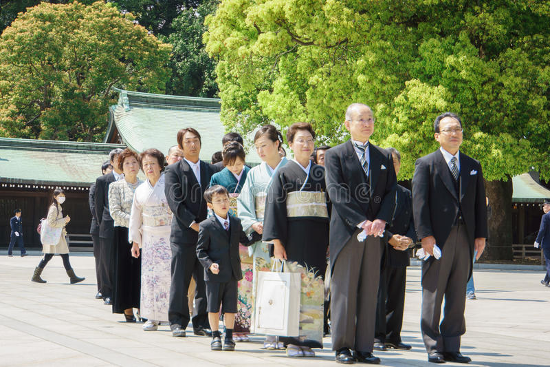 Cérémonie de mariage japonaise de shinto image libre de droits