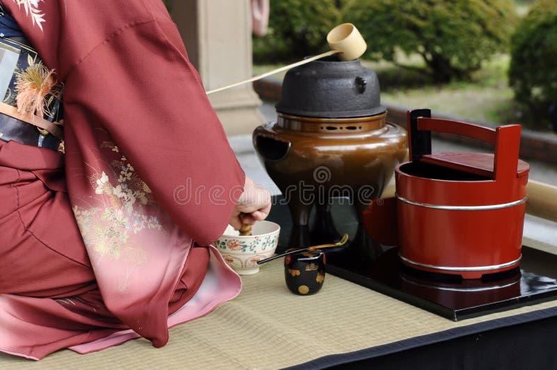 Cérémonie de thé, Japon image stock