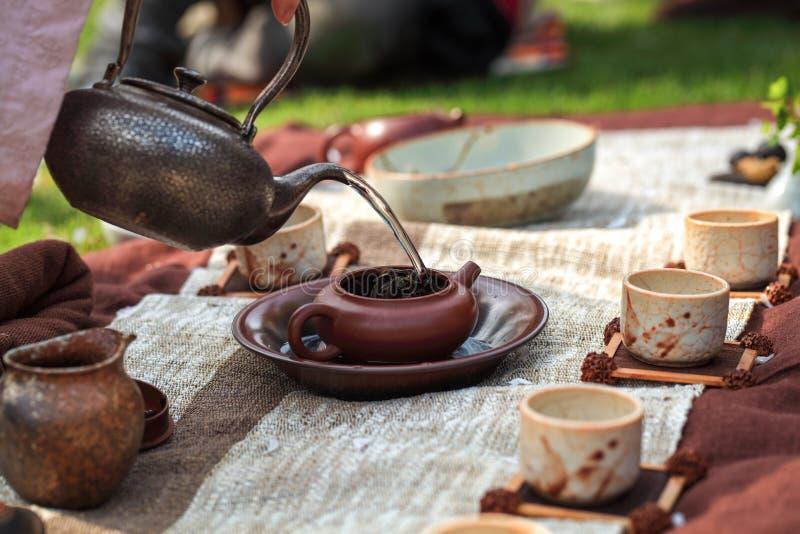 Cérémonie de thé traditionnelle photos stock