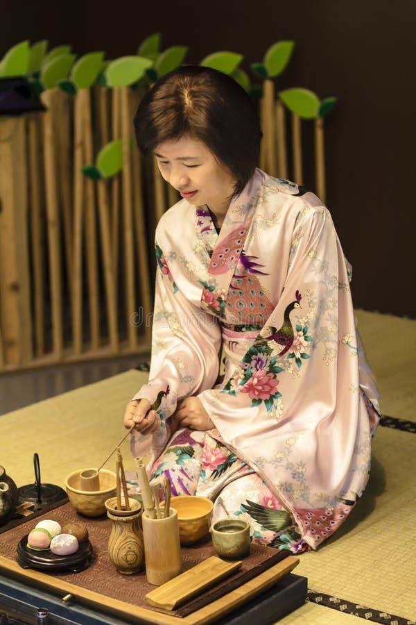 Cérémonie de thé traditionnelle japonaise photos libres de droits