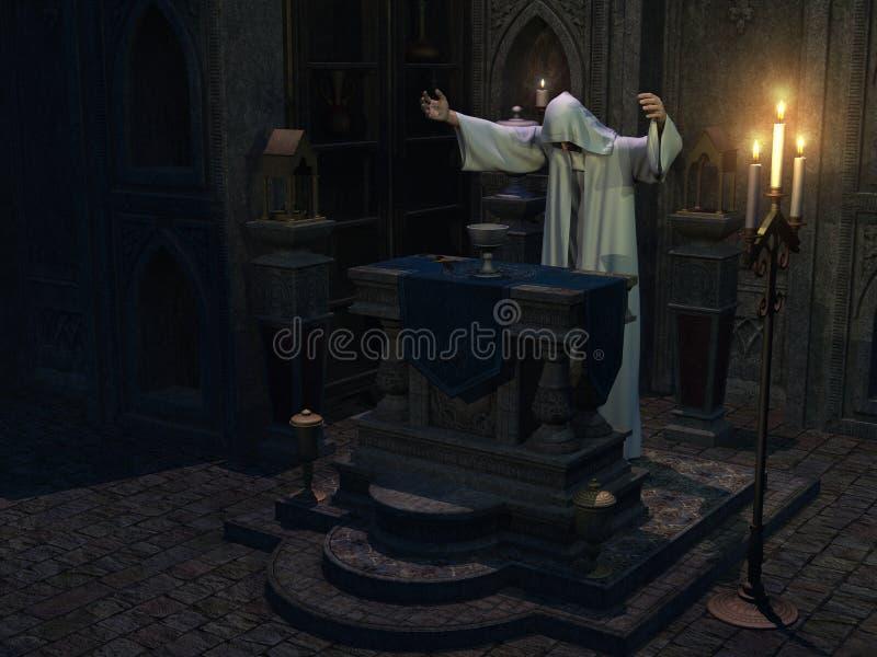 Cérémonie occulte illustration stock