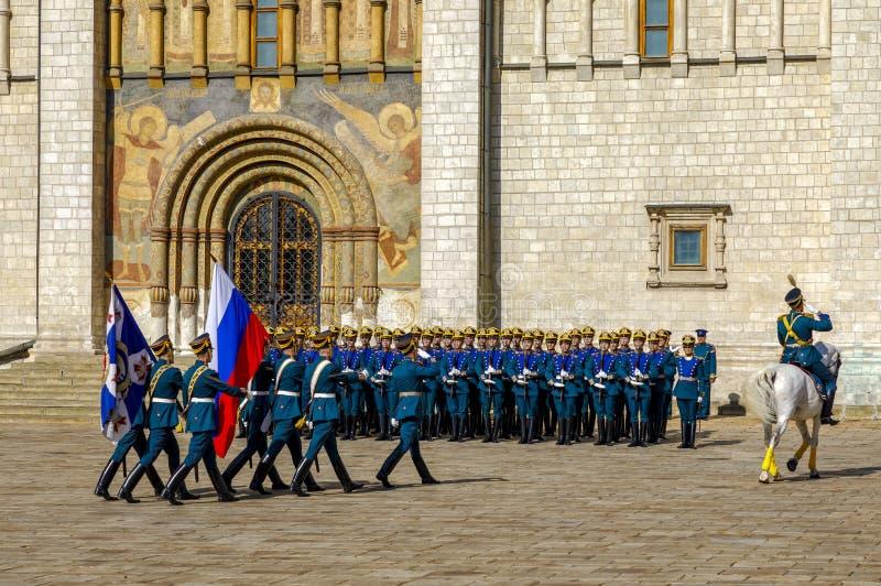 Cérémonie présidentielle de régiment de Kremlin du changement de la garde photo stock