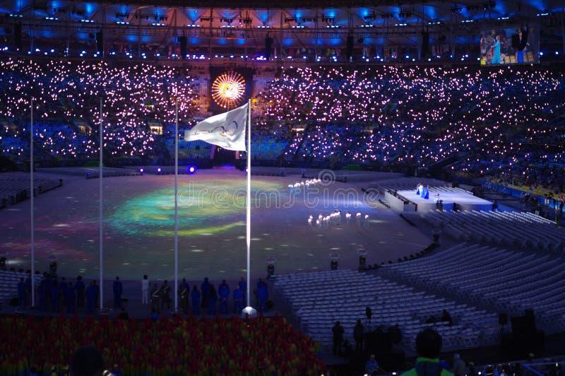 Cérémonies Rio2016 colosing au stade de Maracana photos libres de droits