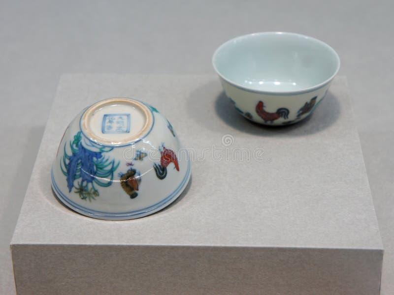 Céramique au musée de palais images libres de droits