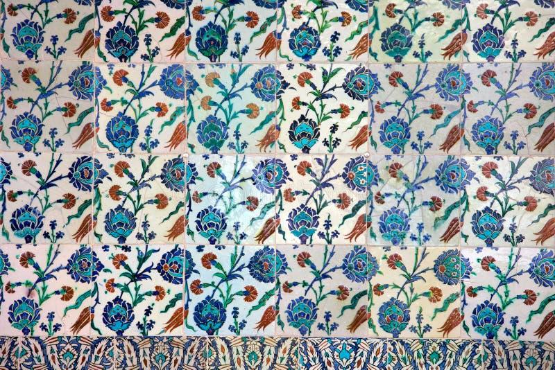 Céramique d'Iznik avec la conception florale illustration de vecteur