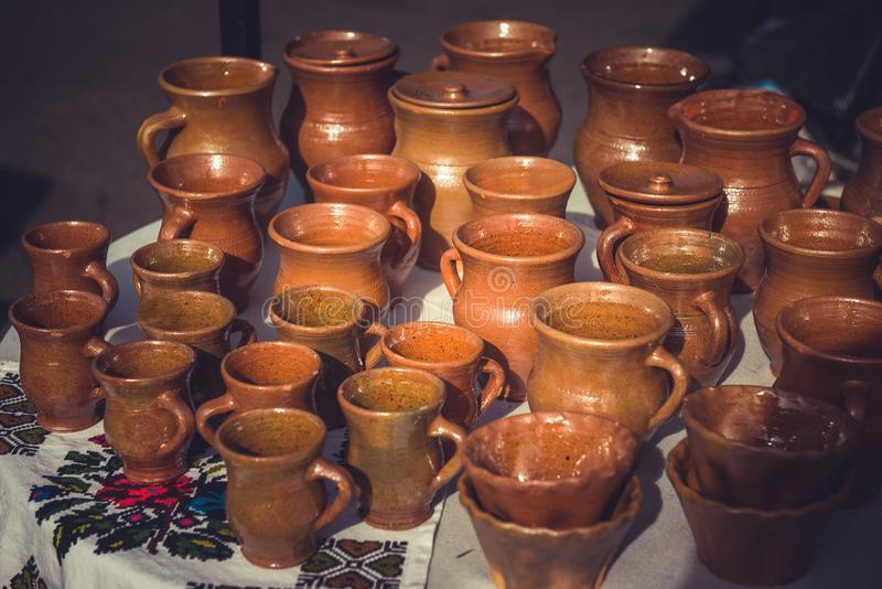 Céramique de poterie d'argile photographie stock libre de droits