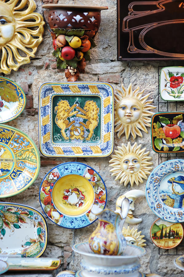 Céramique italienne traditionnelle photo stock