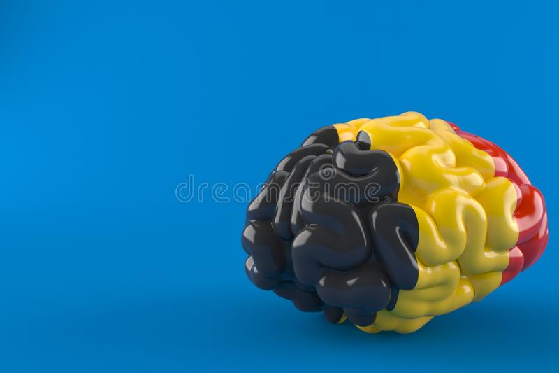 Cérebro com bandeira belga ilustração royalty free