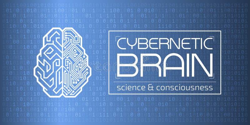 Cérebro Cybernetic ilustração stock