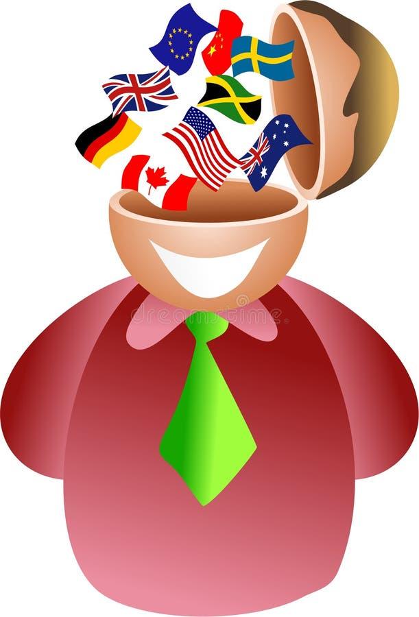 Cérebro da bandeira ilustração stock