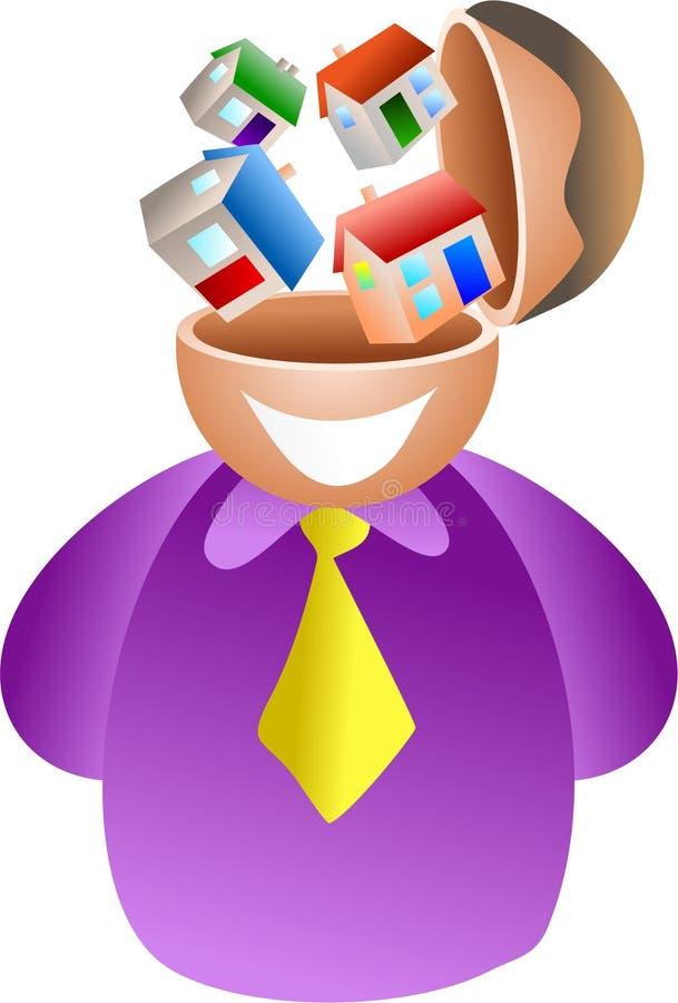 Download Cérebro da propriedade ilustração stock. Ilustração de residential - 530526