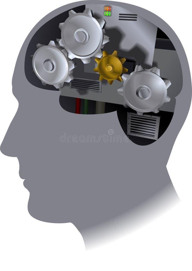 Cérebro da roda denteada ilustração royalty free