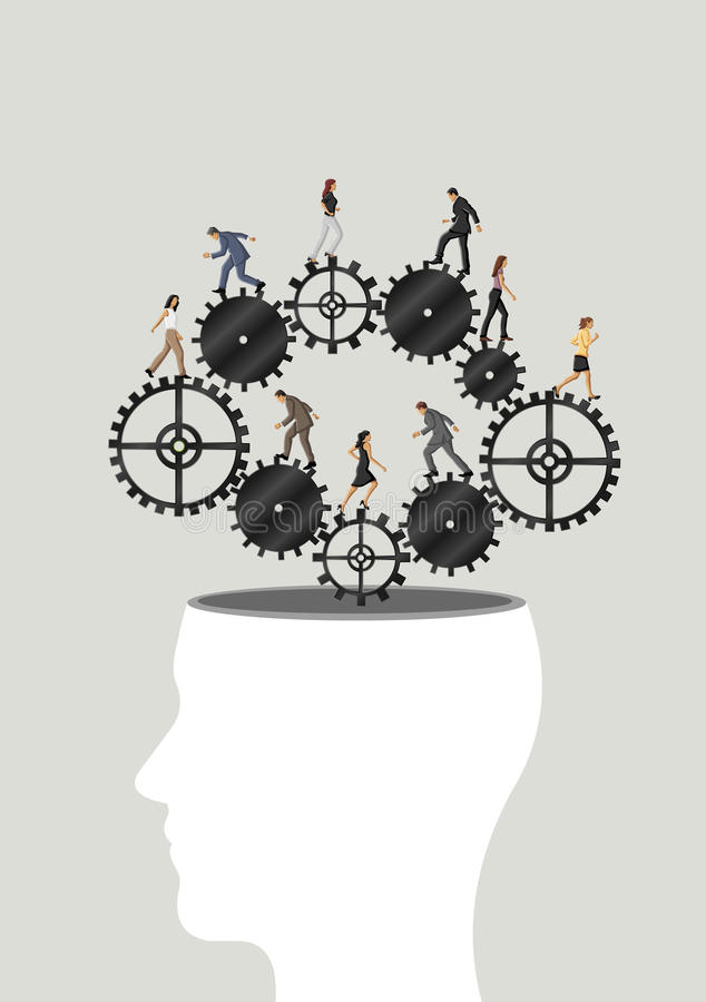 Cérebro da roda denteada. ilustração royalty free