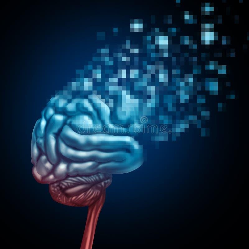 Cérebro de Digitas ilustração stock