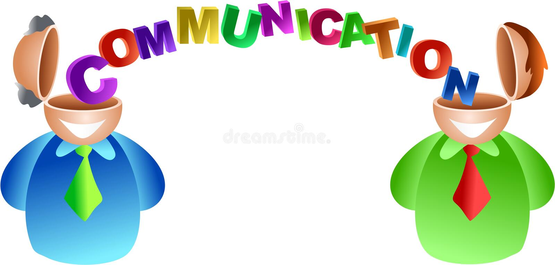 Cérebro de uma comunicação ilustração stock
