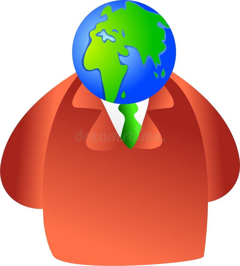 Cérebro do globo ilustração royalty free