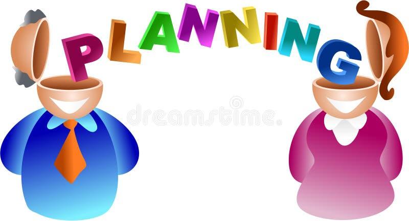 Cérebro do planeamento ilustração royalty free