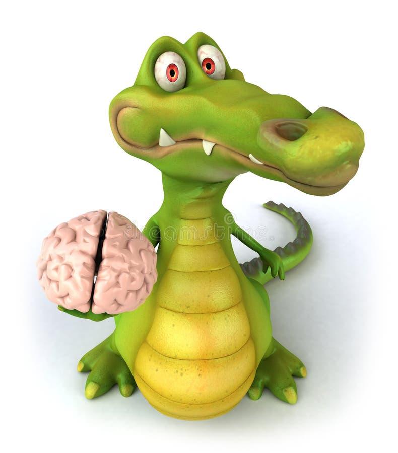 Cérebro do Reptilian ilustração stock