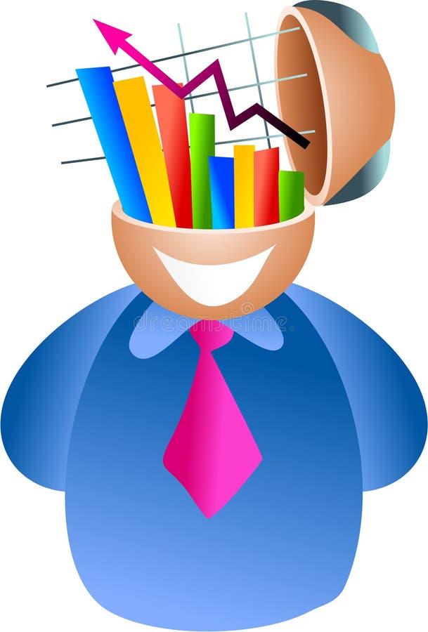 Cérebro do Stats ilustração stock