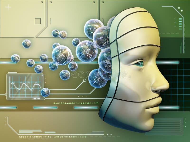 Cérebro eletrônico ilustração do vetor