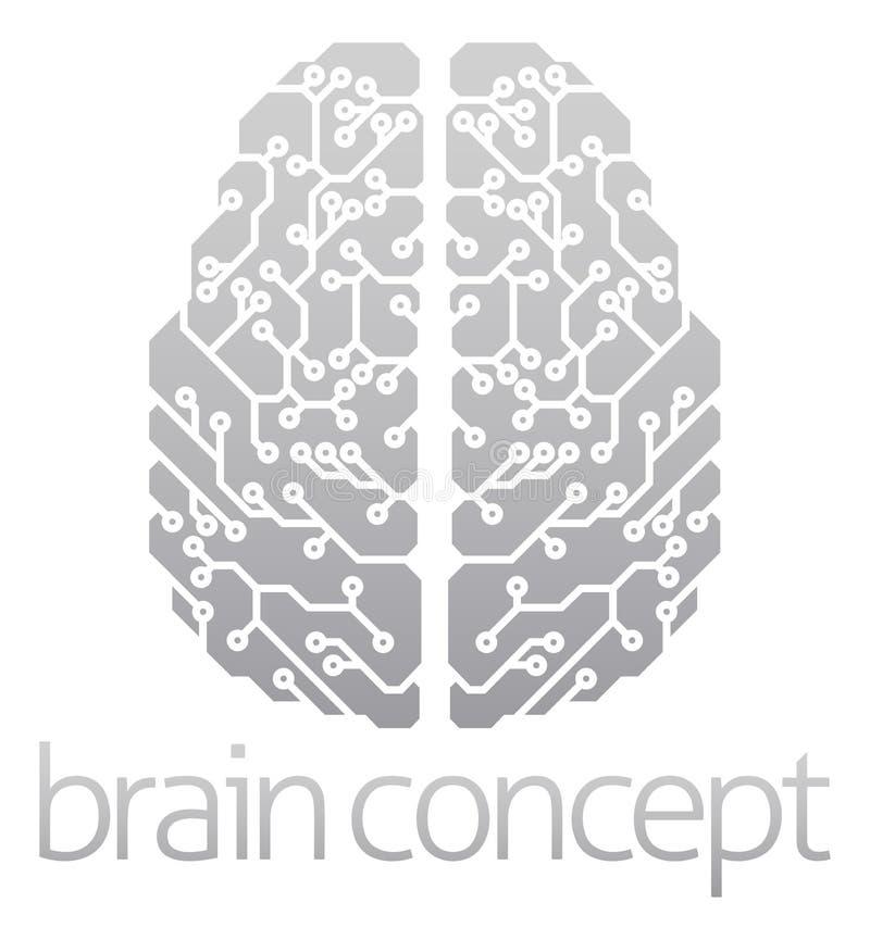 Cérebro eletrônico abstrato ilustração royalty free
